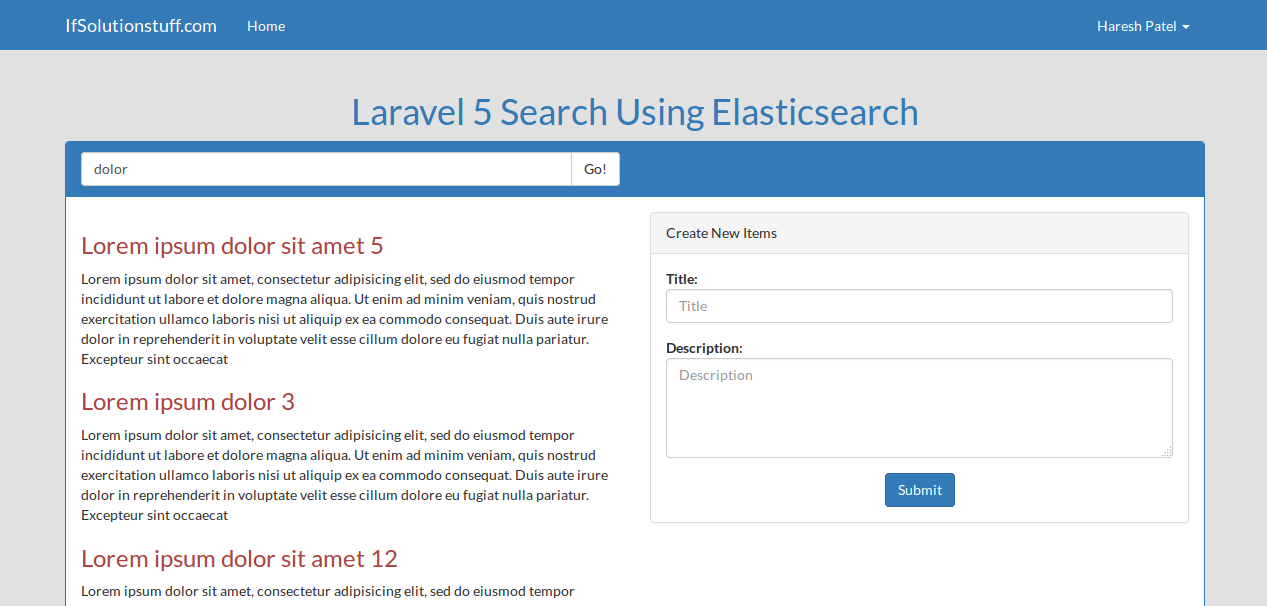 How to use elasticsearch from scratch in laravel 5?