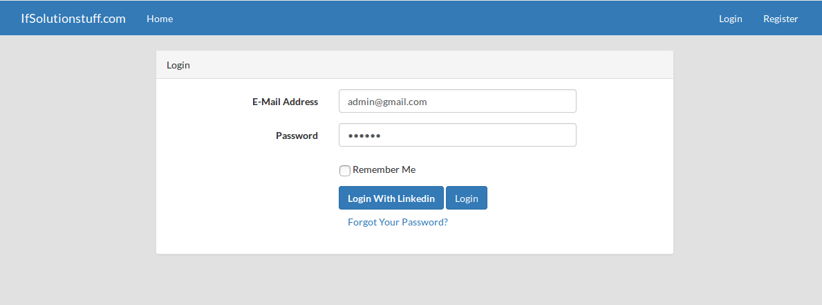 Laravel Login with Linkedin using Socialite Package