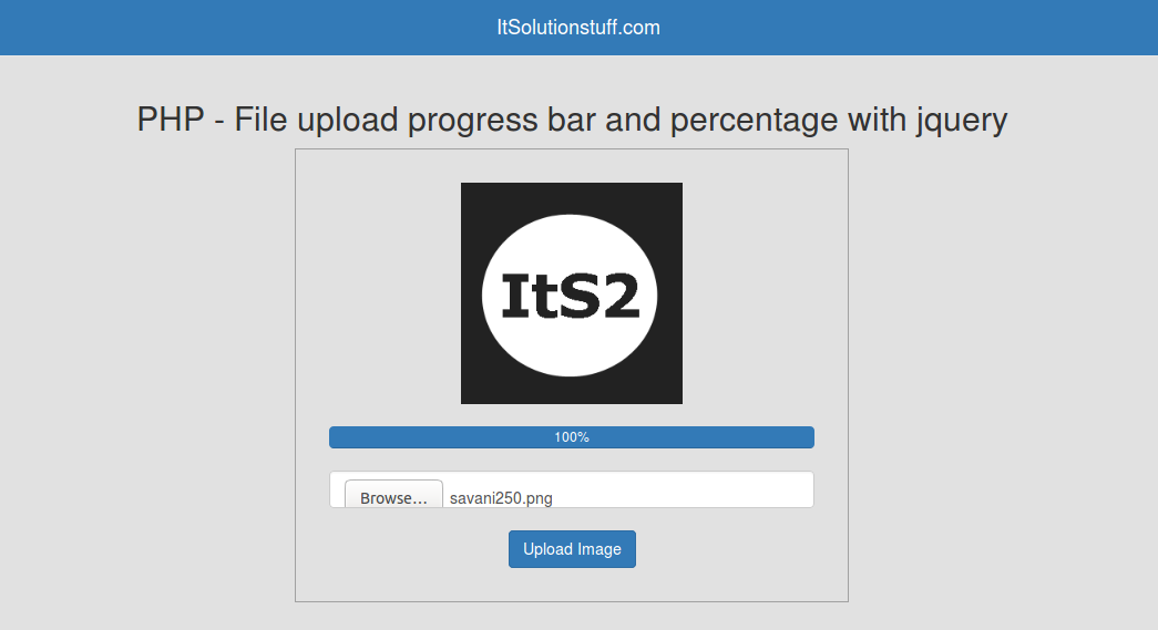 PHP - File upload progress bar with percentage using form jquery example