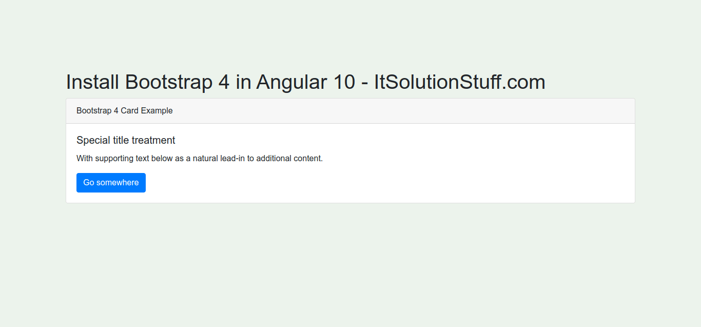 How to Use Bootstrap 4 in Angular 10?