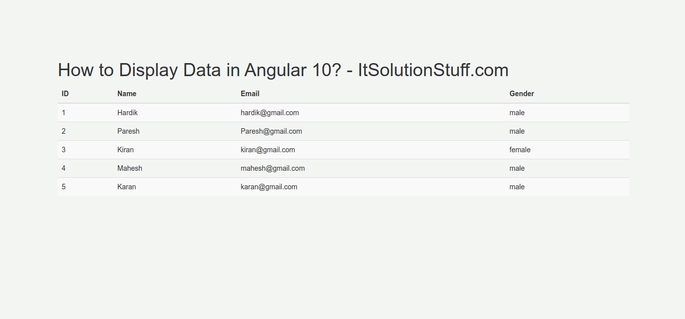Angular 10 Display JSON Data in Table Example