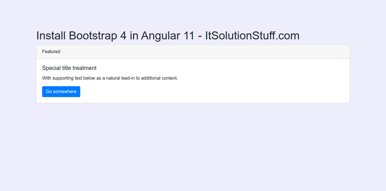 Angular 11 Add Bootstrap Example