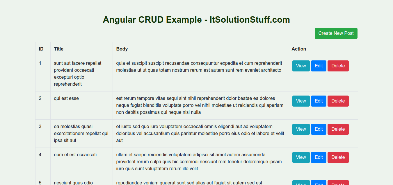 Angular CRUD Operation Example