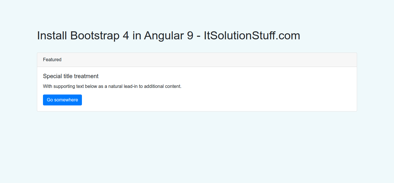 Install Bootstrap 4 in Angular 9 | How to Add Bootstrap in Angular 9
