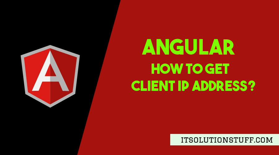 How To Get Client IP Address in Angular?