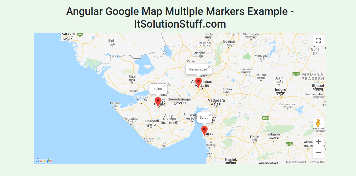 Angular Google Maps Multiple Markers Example