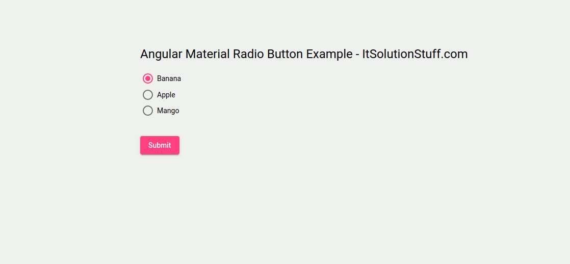 Angular Material Radio Button Example