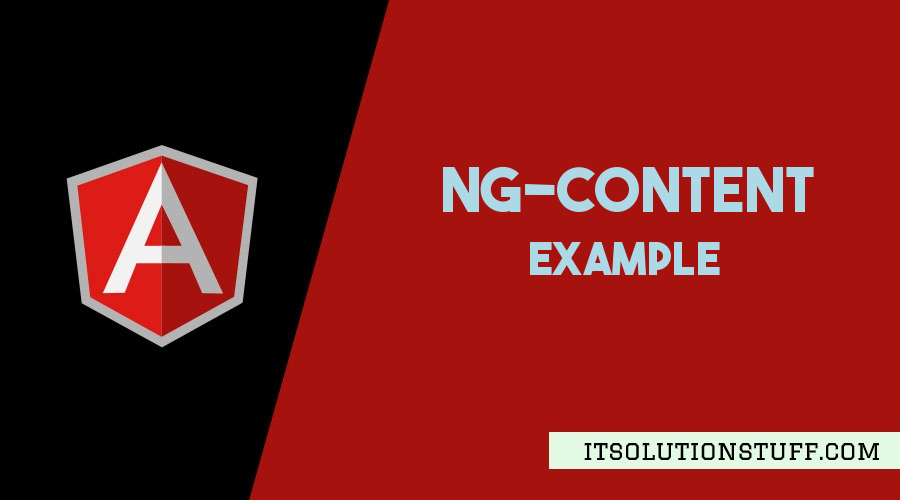 Angular ng-content Example