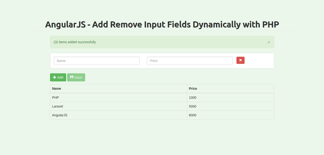 AngularJS - Add Remove Input Fields Dynamically with PHP MySQLi