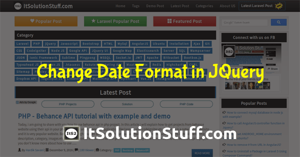 How to change date format in jquery using moment JS ?