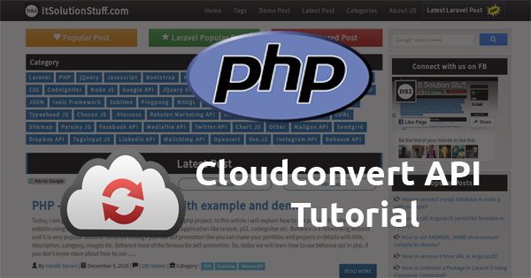 PHP - How to Convert file(image, audio, video) extension using CloudConvert API?