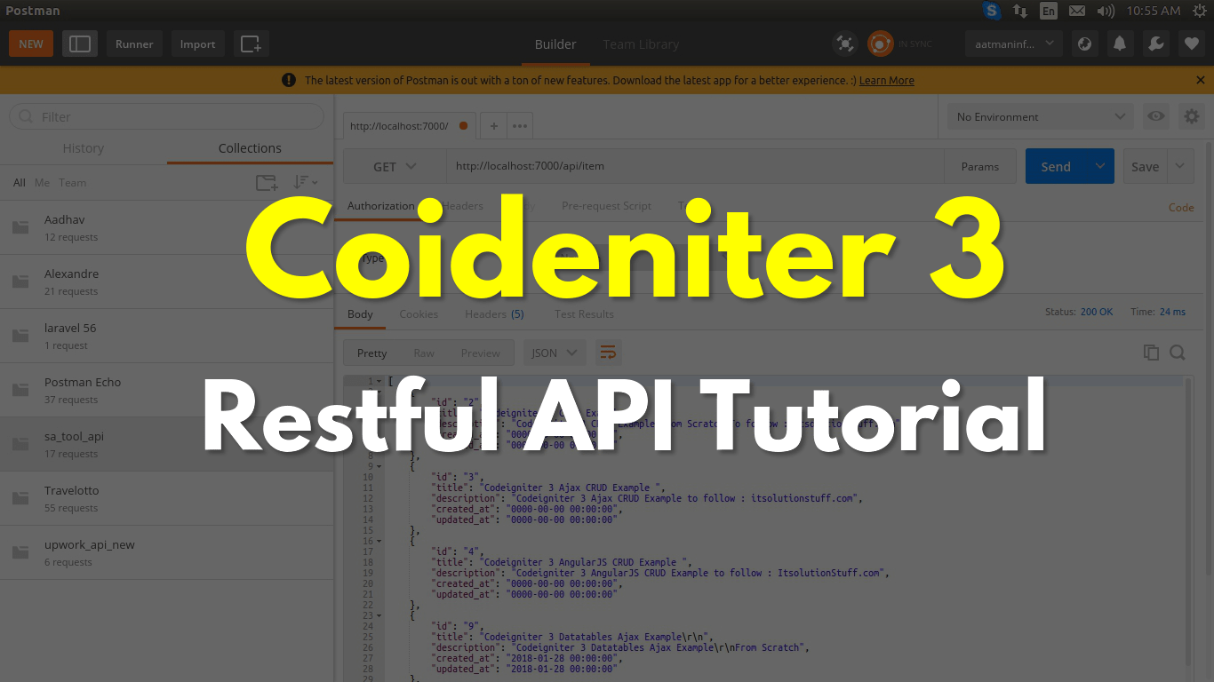 Codeigniter 3 Restful API Tutorial