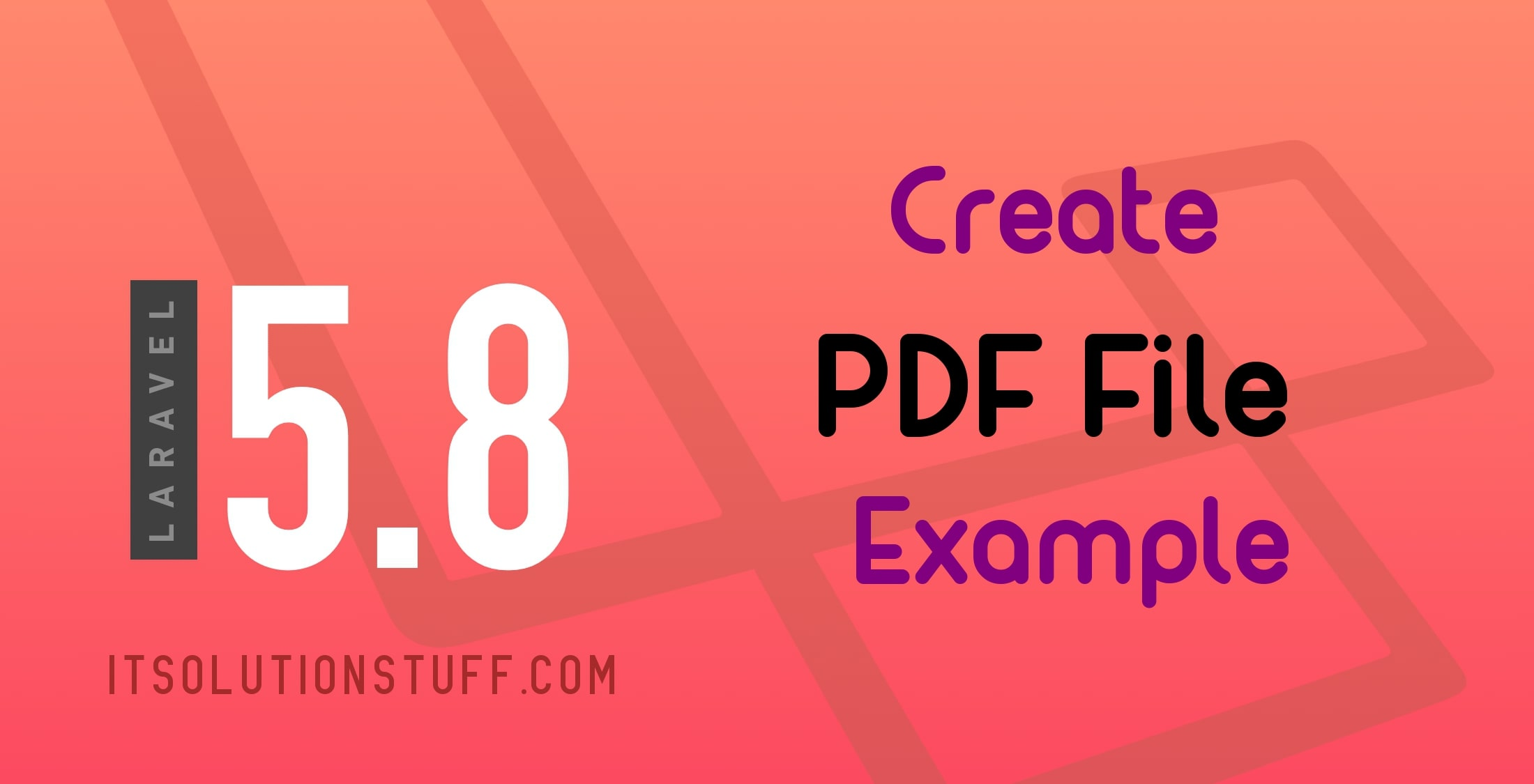 How to create and download pdf in Laravel 5 8?
