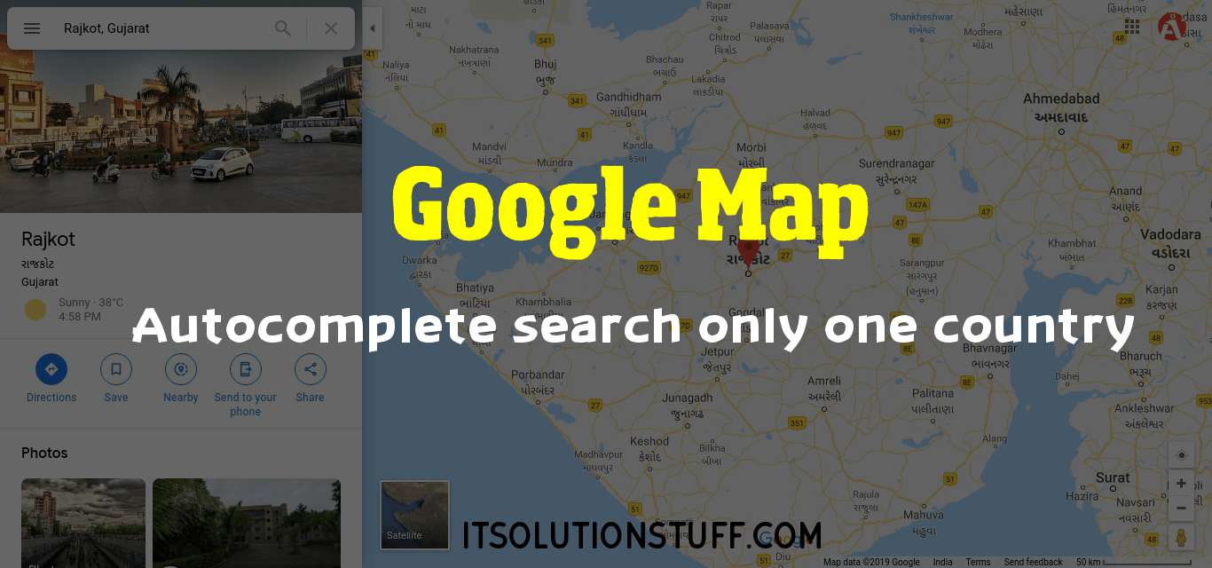 Google maps autocomplete search only one country