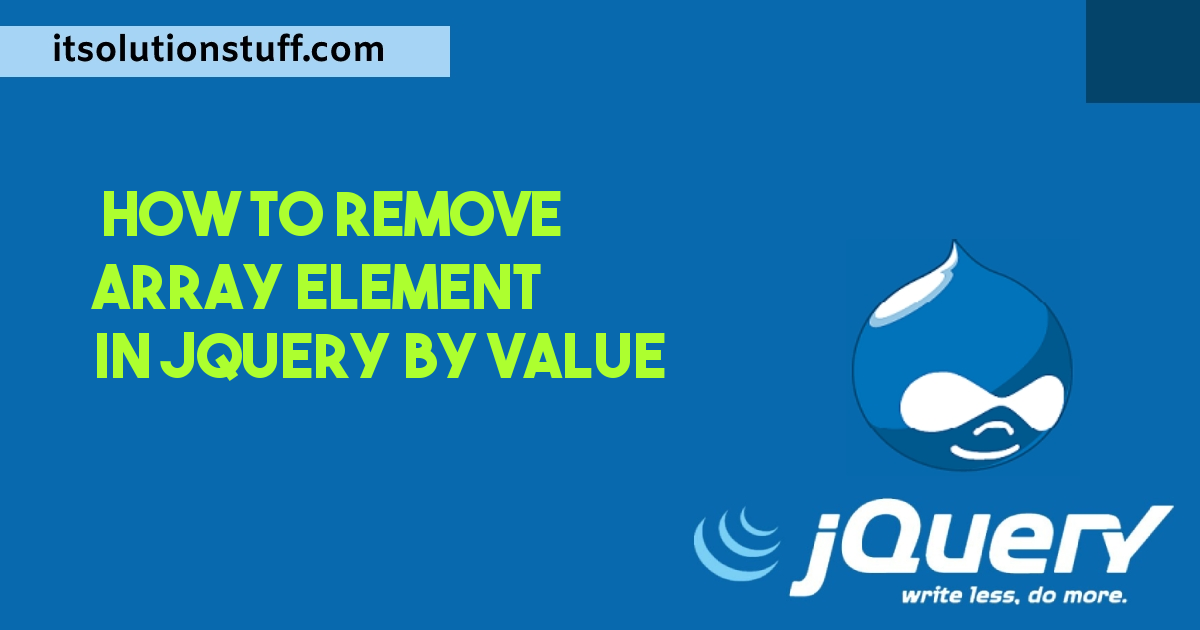 How to Remove Array Element in Jquery by Value?