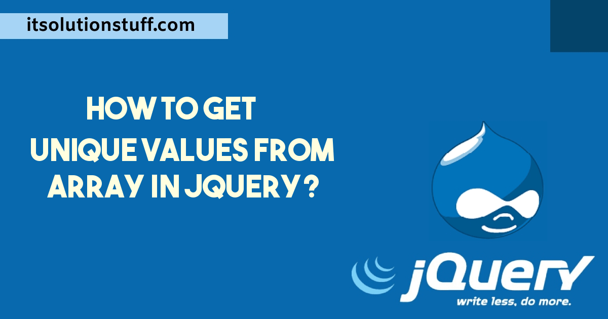 How to get unique values from array in Jquery?