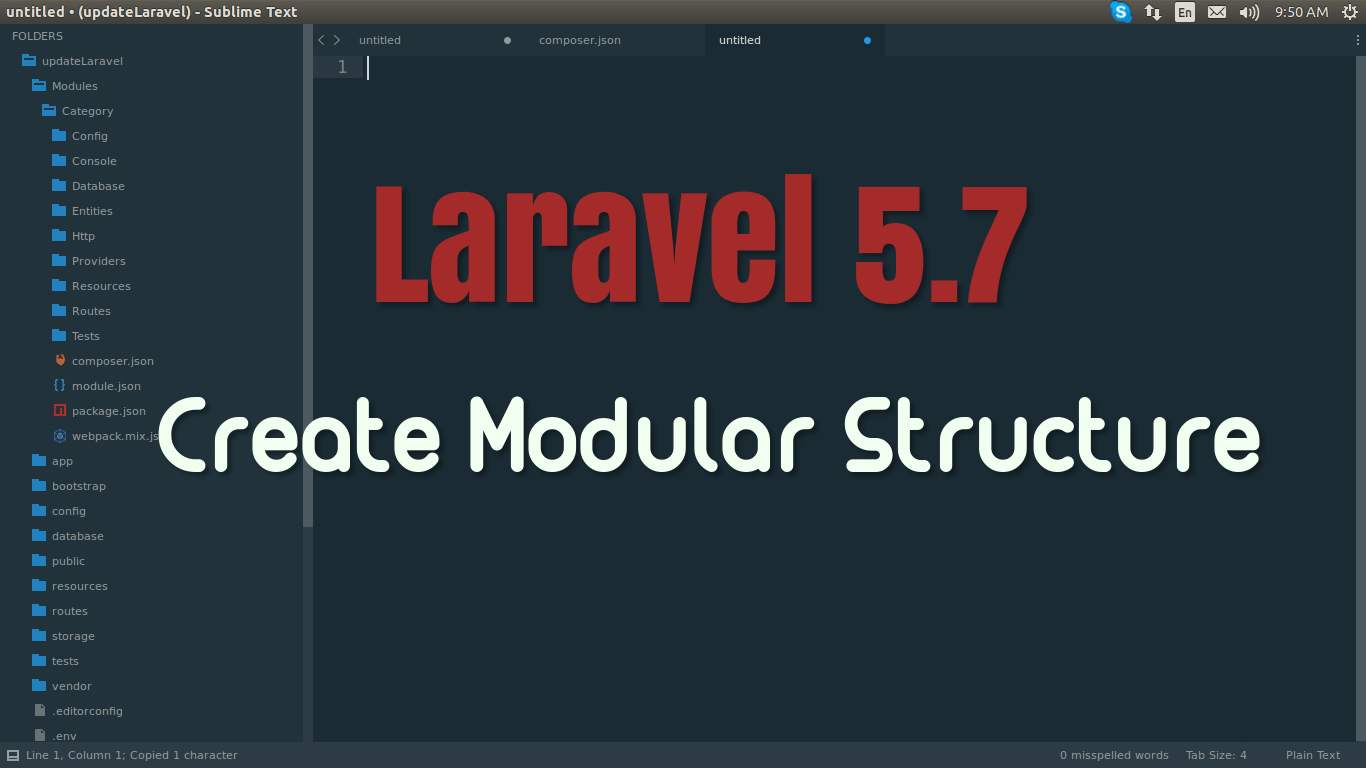 Laravel 5.7 Modular Structure Application Example
