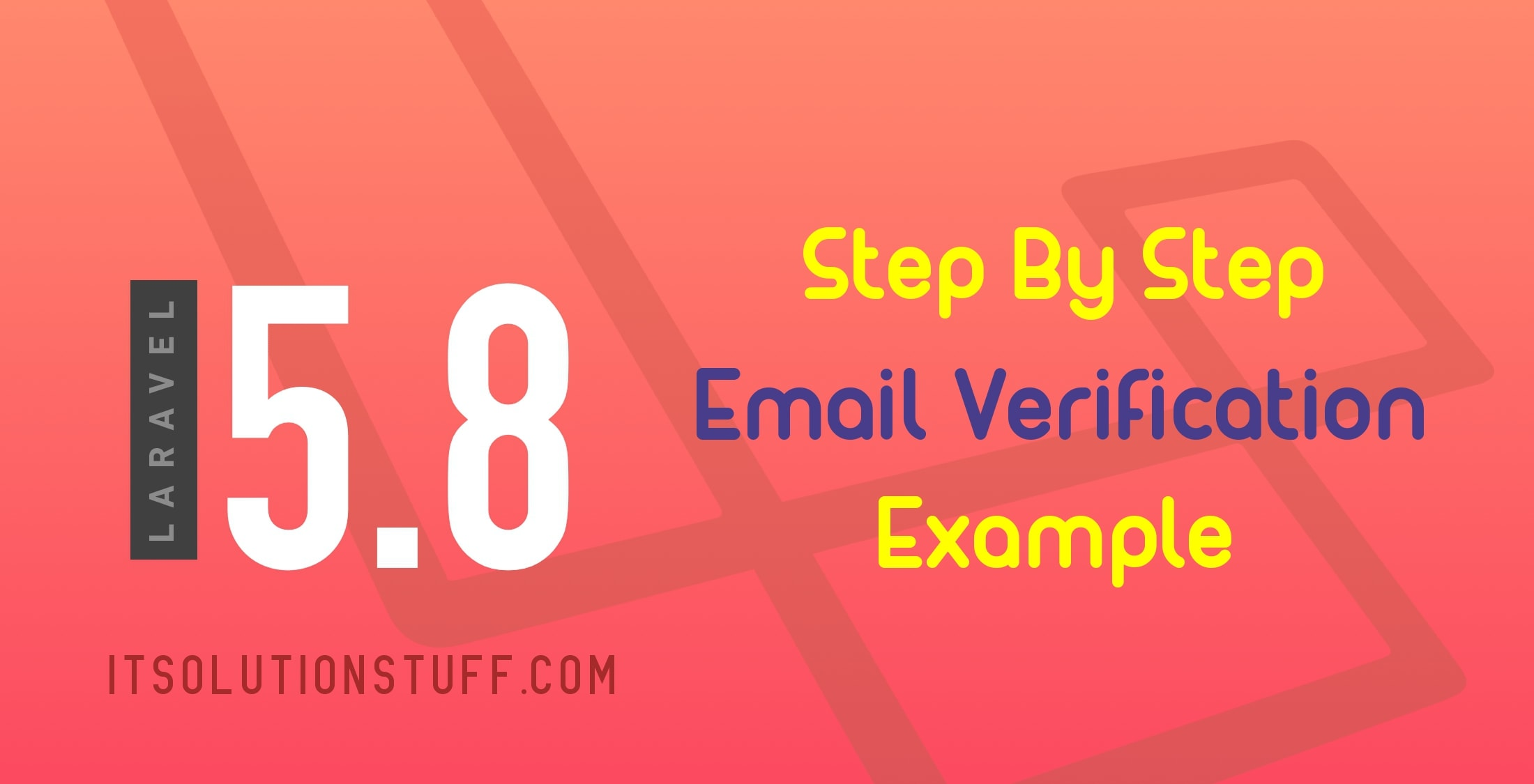 Laravel 5.8 Email Verification Example