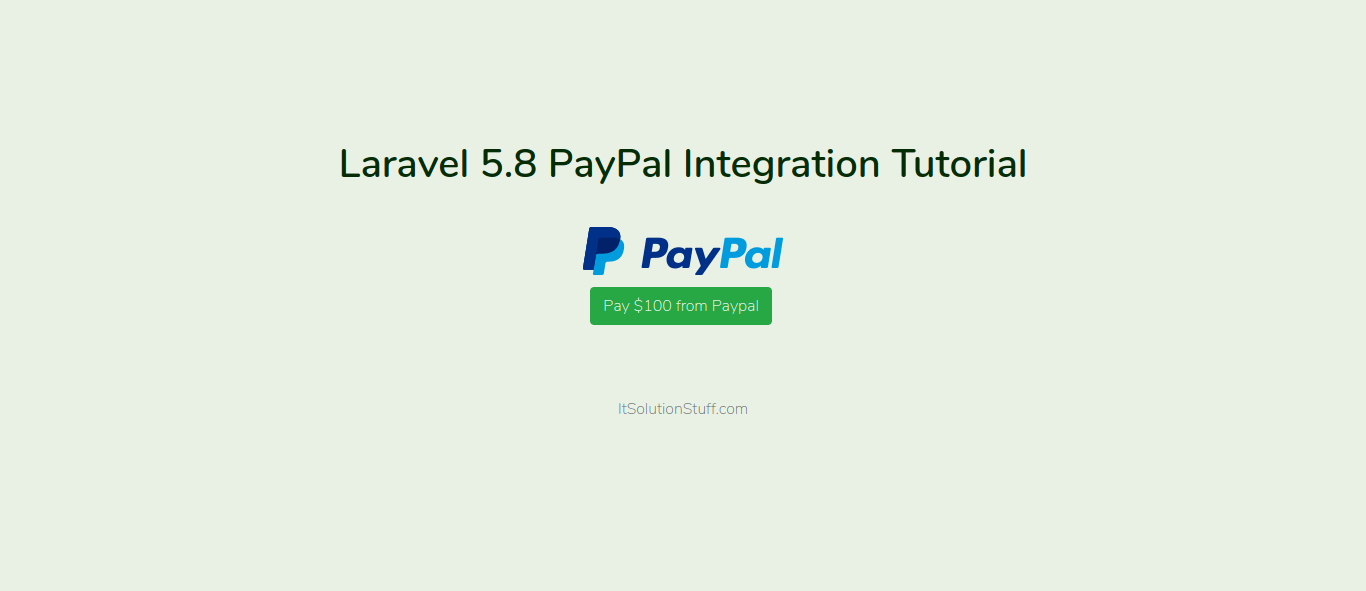 Laravel 5.8 PayPal Integration Tutorial