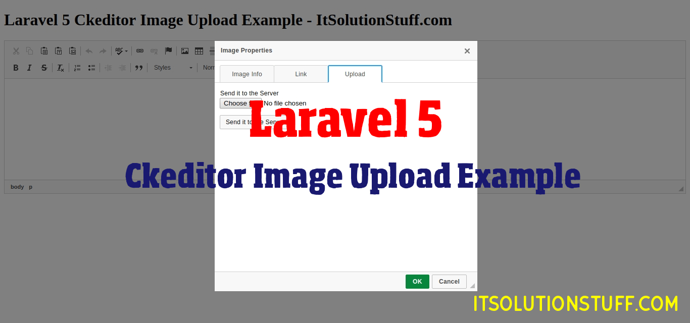 Laravel 5 Ckeditor Image Upload Example