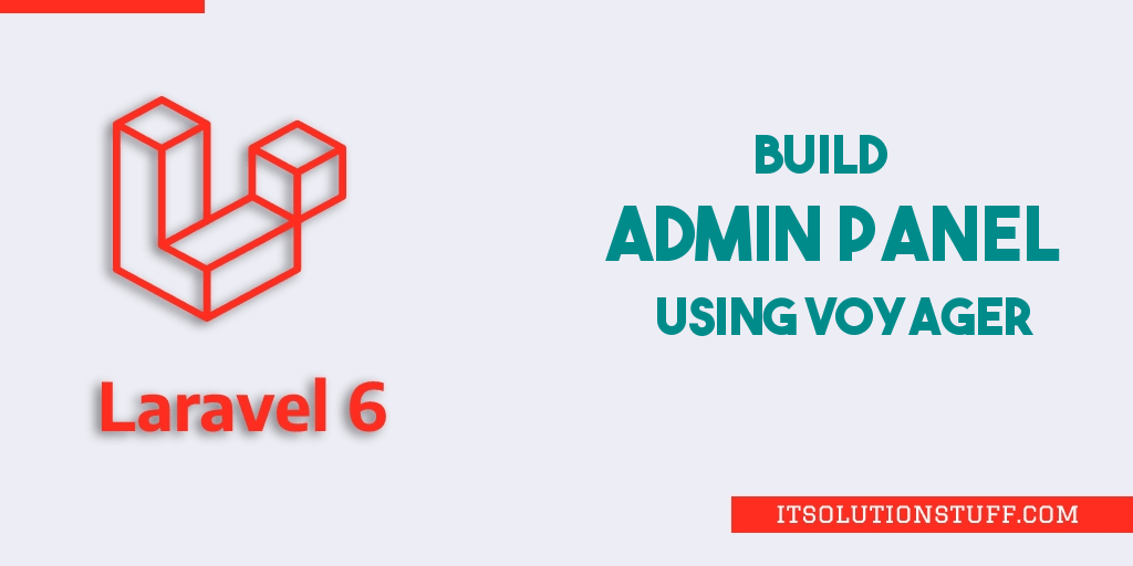 Laravel 6 Admin Panel Tutorial