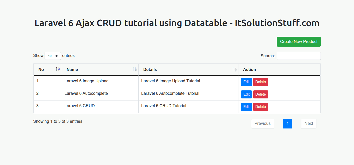 Laravel 6 Ajax CRUD Tutorial