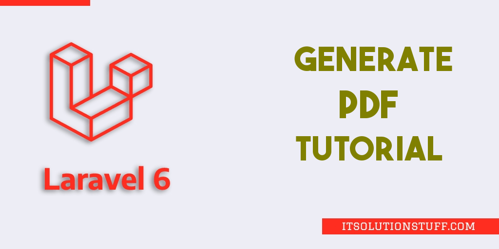 Laravel 6 Generate PDF File Tutorial