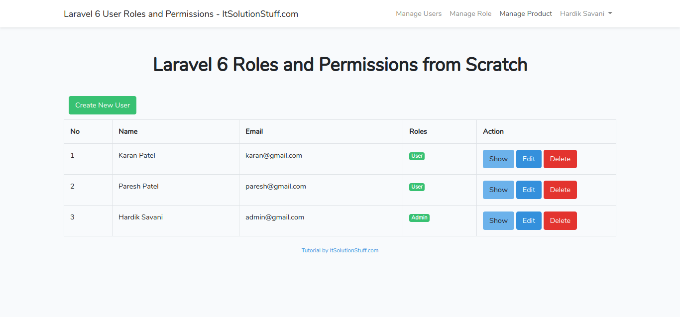 Laravel 6 User Roles and Permissions from Scratch | Laravel 6 ACL