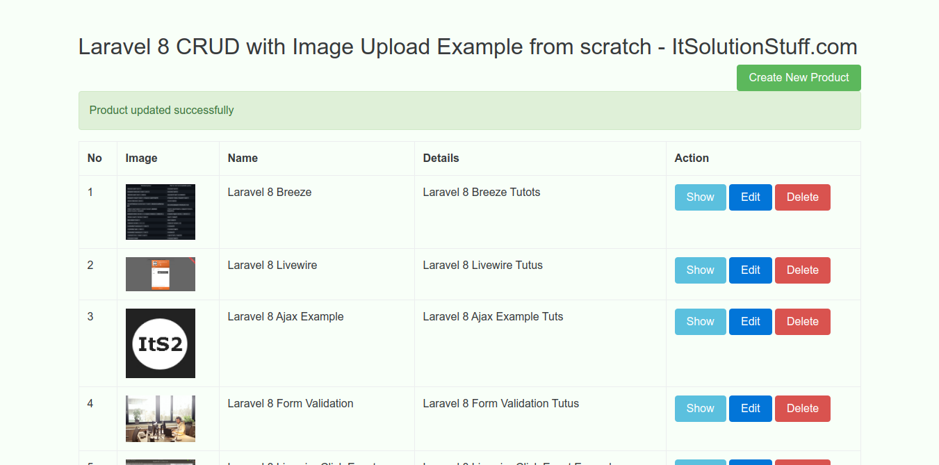 CRUD with Image Upload in Laravel 8 Example