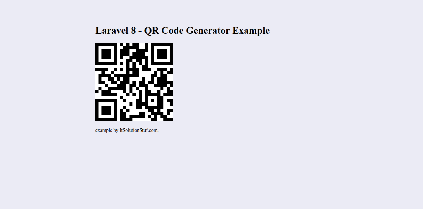 Laravel 8 QR Code Generate Example