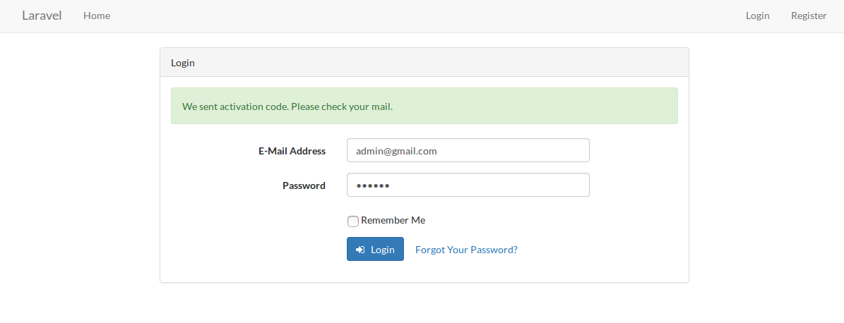 How to implement Email Verification with Activation Code example from Scratch in Laravel 5.2 ?