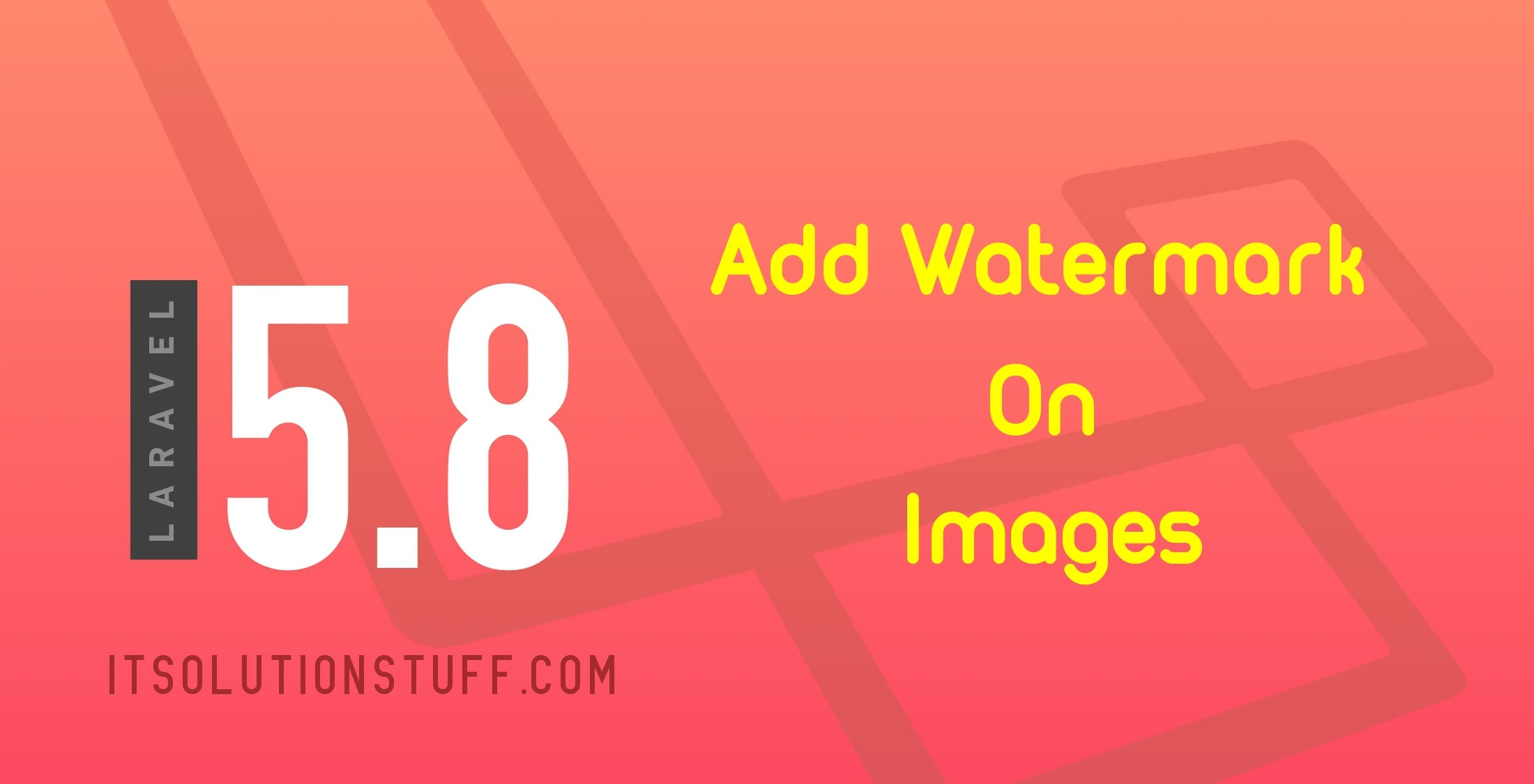 Add Watermark on Images in Laravel