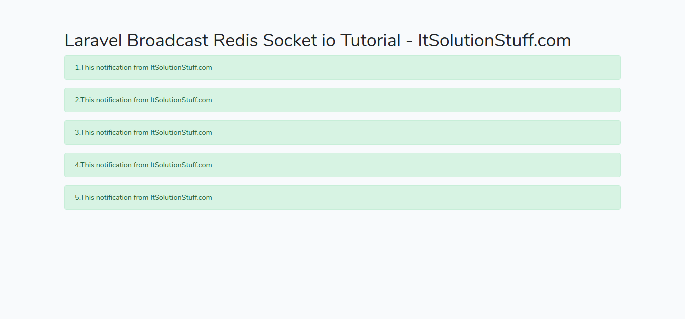 Laravel Broadcast Redis Socket io Tutorial
