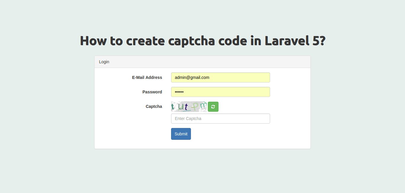 How to create captcha code in Laravel 5?