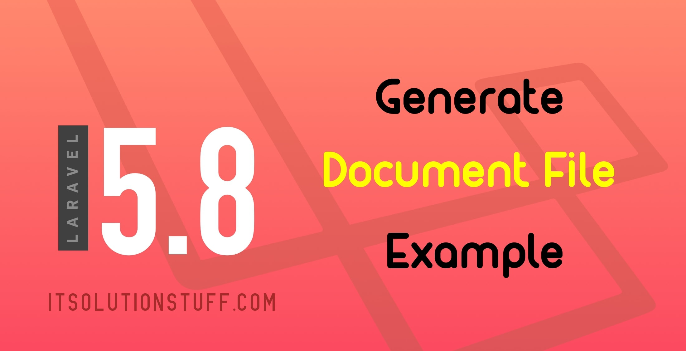 Generate word document file in php Laravel 5 Example
