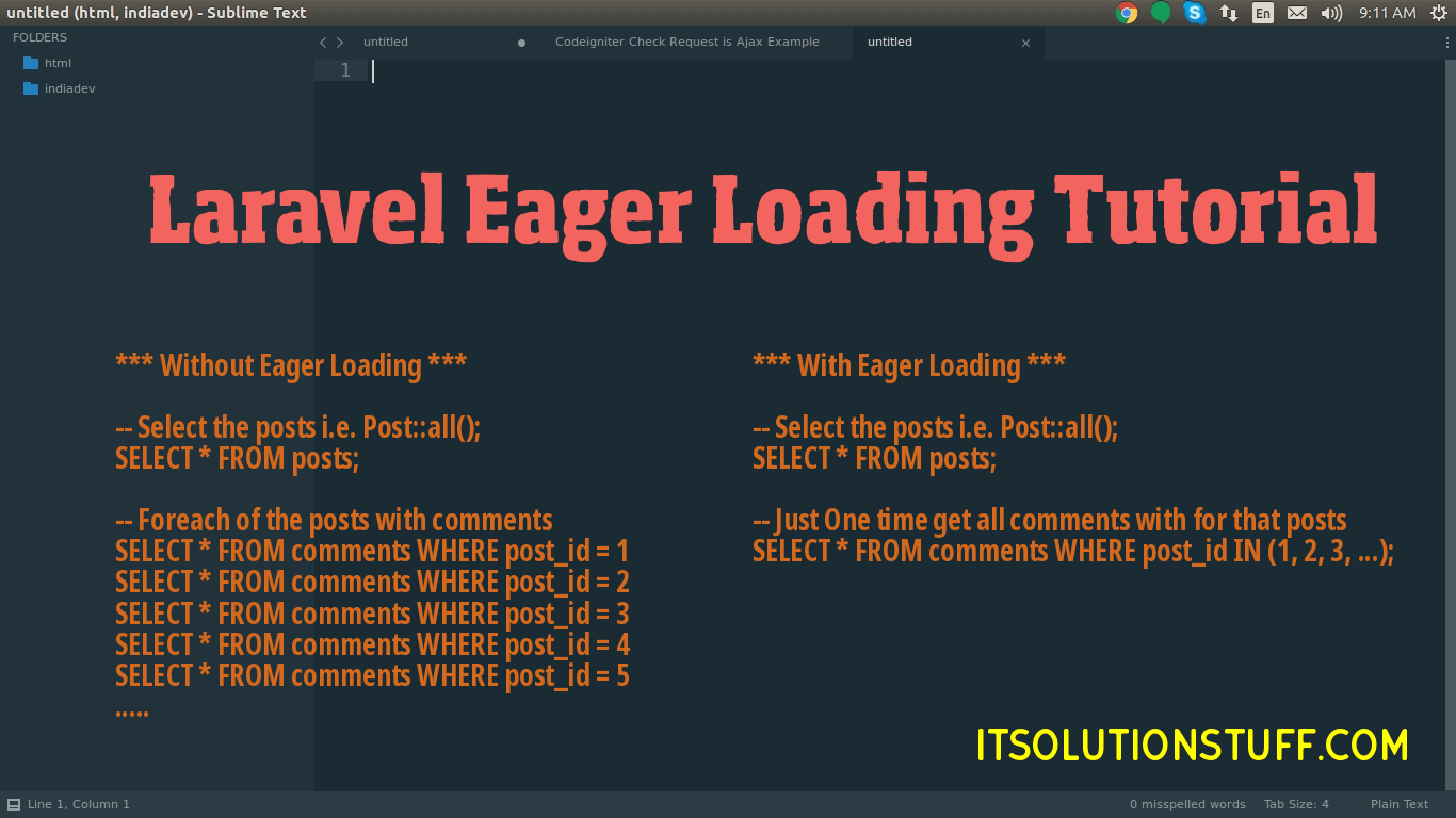 Laravel Eager Loading Tutorial