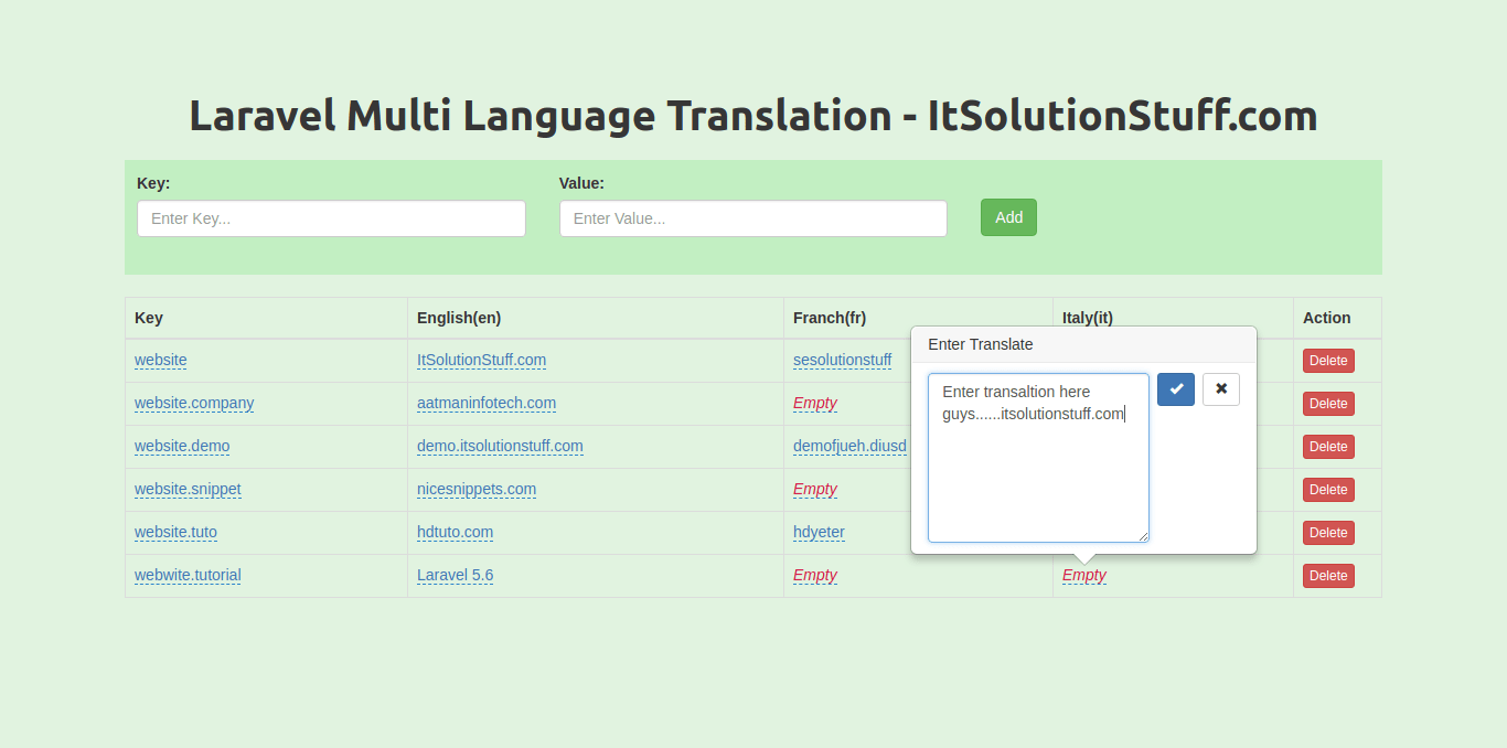 Laravel Multi Language Translation using lang() Helper Tutorial