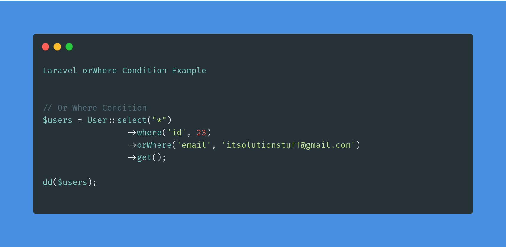 Laravel orWhere Condition using Eloquent Query