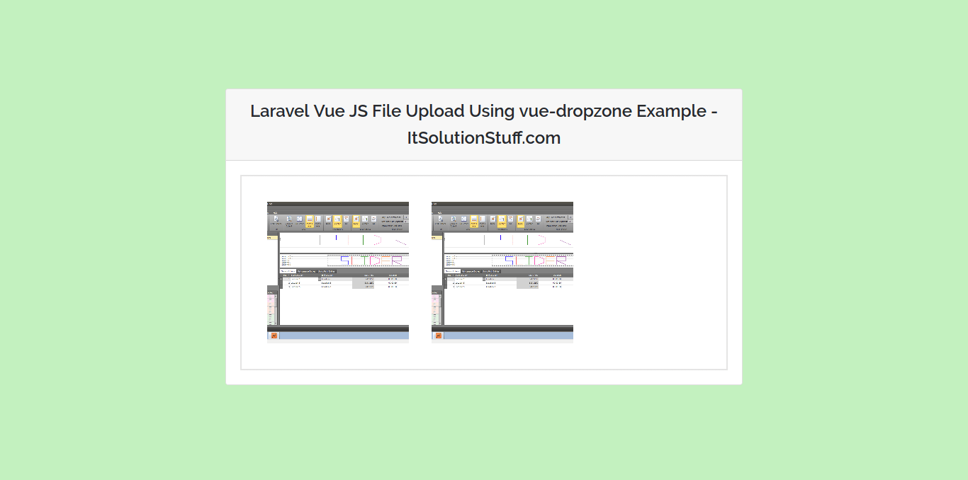 Laravel Vue JS File Upload Using vue-dropzone Example