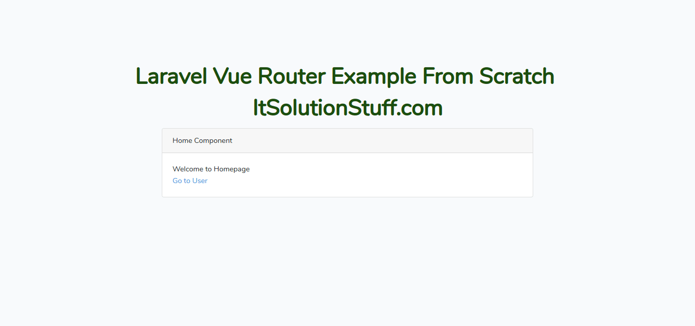 Laravel Vue Router Example From Scratch