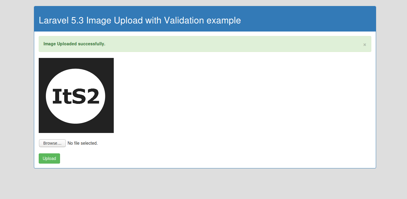 Laravel 5.3 Image Upload with Validation example