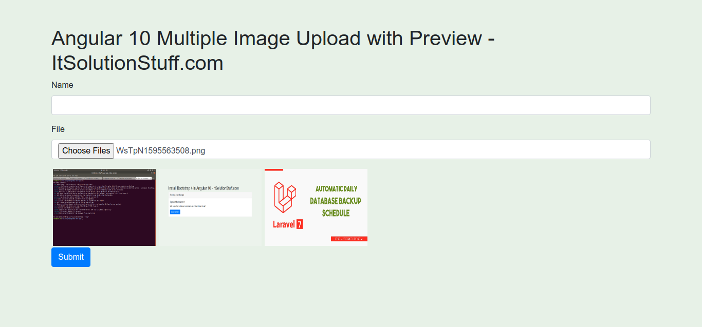Angular 10 Multiple Image Upload with Preview Example