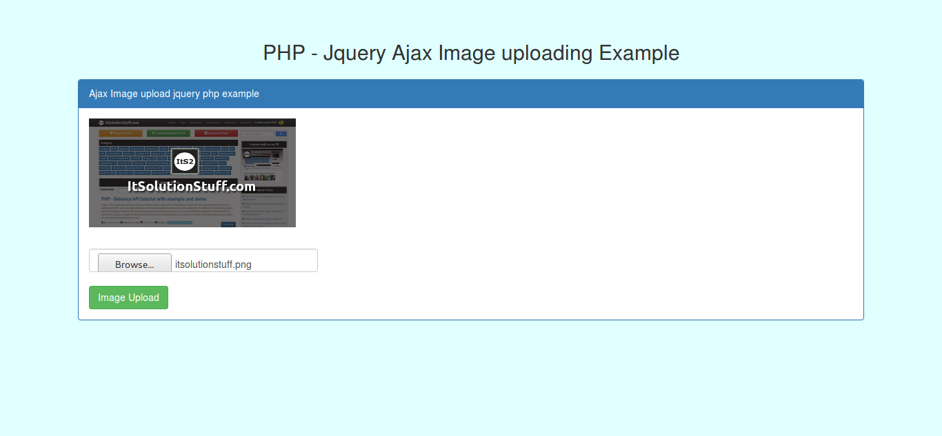 Ajax Image Upload using PHP and jQuery Example from scratch