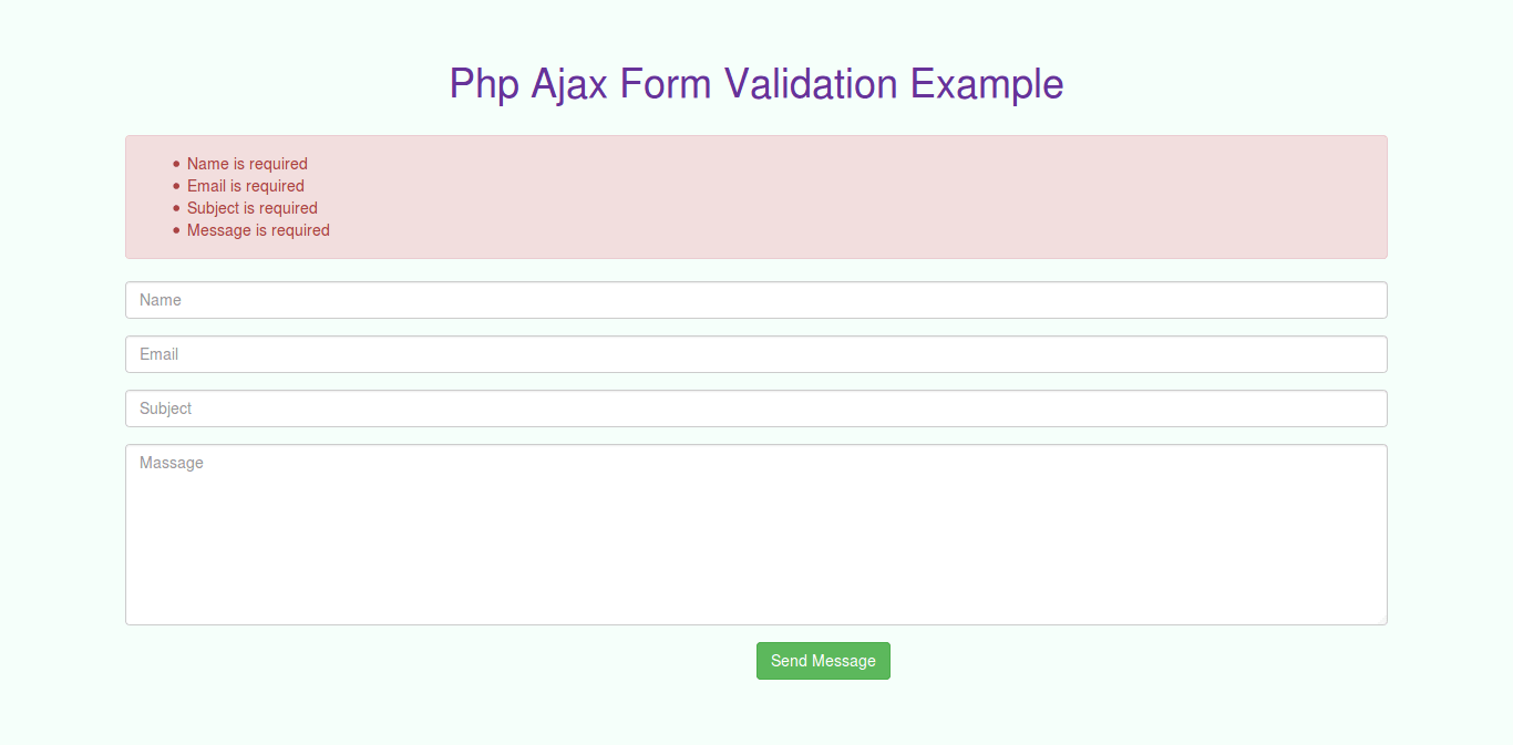 Validating forms using php and mysql