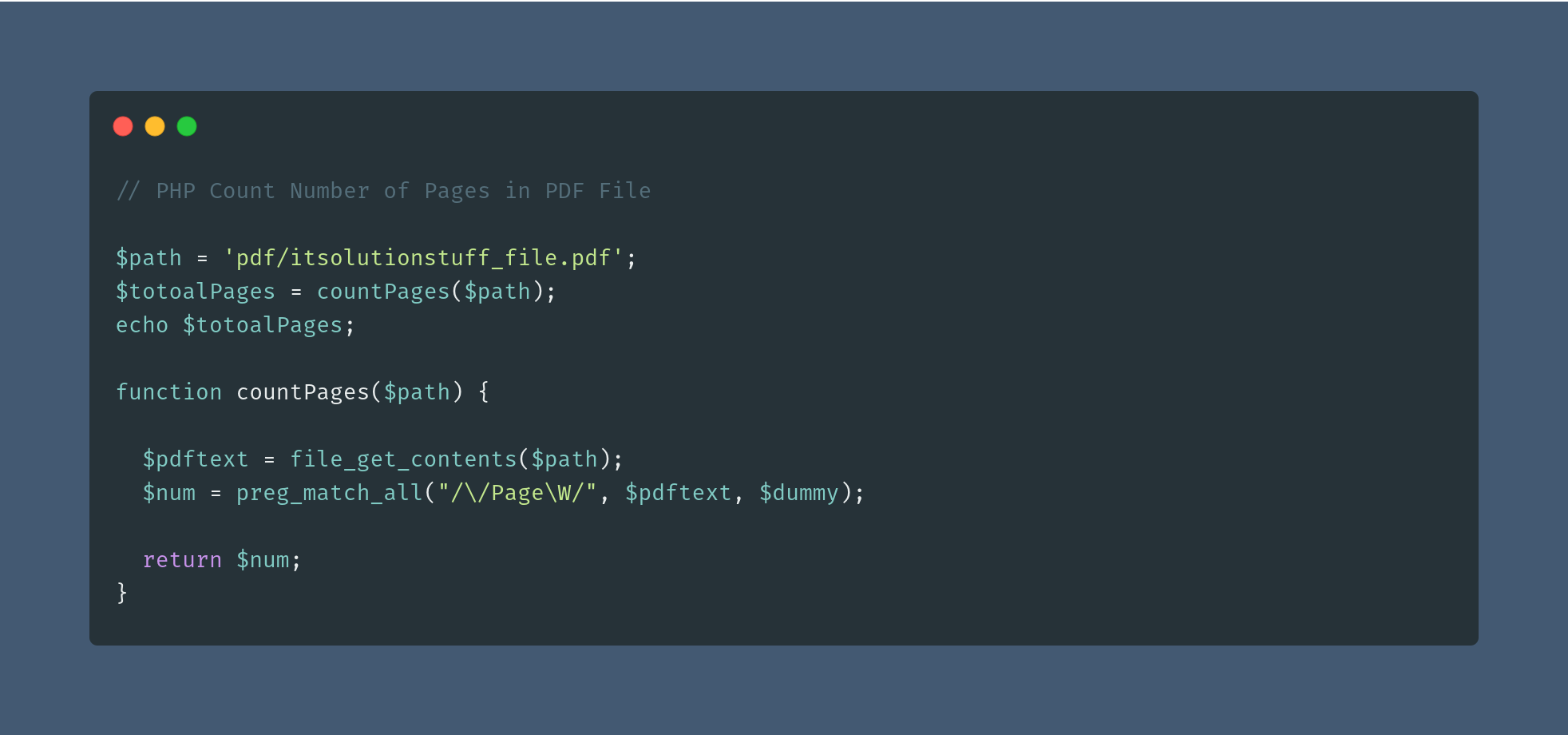 PHP Count Number of Pages in PDF File