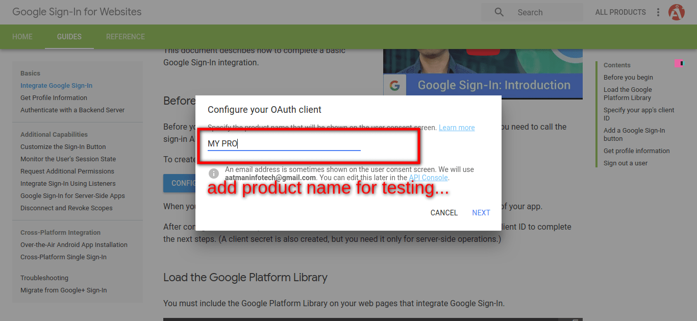 PHP and MySQL - Login with Google Account Example
