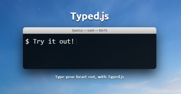 Jquery - Animated typing effect using typed js example with demo