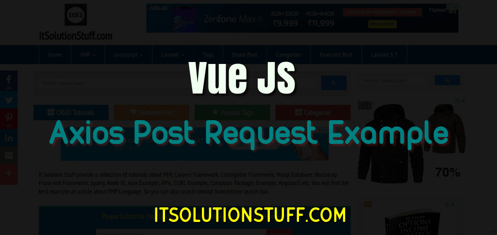 Vue Axios Post Request Example